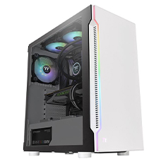 Thermaltake H200 RGB Tempered Glass Mid Tower Chassis White