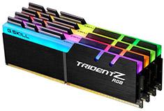 G.Skill Trident Z RGB F4-3200C16Q-32GTZRX 32GB (4x8GB) DDR4 AMD