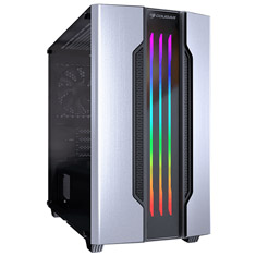Cougar Gemini-M RGB Tempered Glass Mini Tower Case Silver