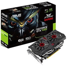ASUS GeForce GTX 1060 DC2 Strix Gaming 6GB