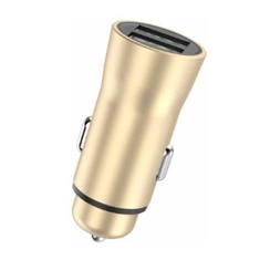XiPin CX25 Dual USB Aluminium Car Charger Gold