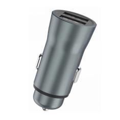 XiPin CX25 Dual USB Aluminium Car Charger Grey