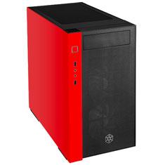 SilverStone Redline RL08 Tempered Glass Case Red