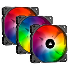 Corsair SP120 RGB PRO 120mm Triple Kit with Lighting Node CORE