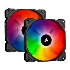 Corsair SP140 RGB PRO 140mm Dual Kit with Lighting Node CORE