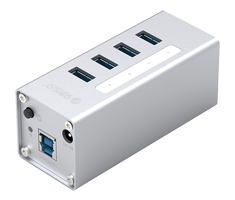 Orico Aluminium 4 Port USB3.0 Hub with BC 1.2 Charger