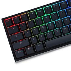 Ducky One 2 Mini RGB Mechanical Keyboard Cherry Silver