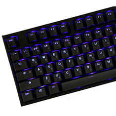 Ducky One 2 Blue LED TKL Mechanical Keyboard Cherry Red