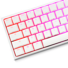 Ducky One 2 Mini White RGB Mechanical Keyboard Cherry Black
