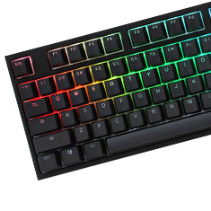 Ducky One 2 RGB Black Mechanical Keyboard Cherry Silver