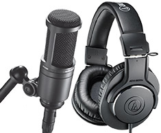 Audio-Technica AT2020 and M20X Studio Recording Combo