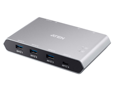 ATEN USB-C Gen 2 Sharing Swith with Power Pass-through