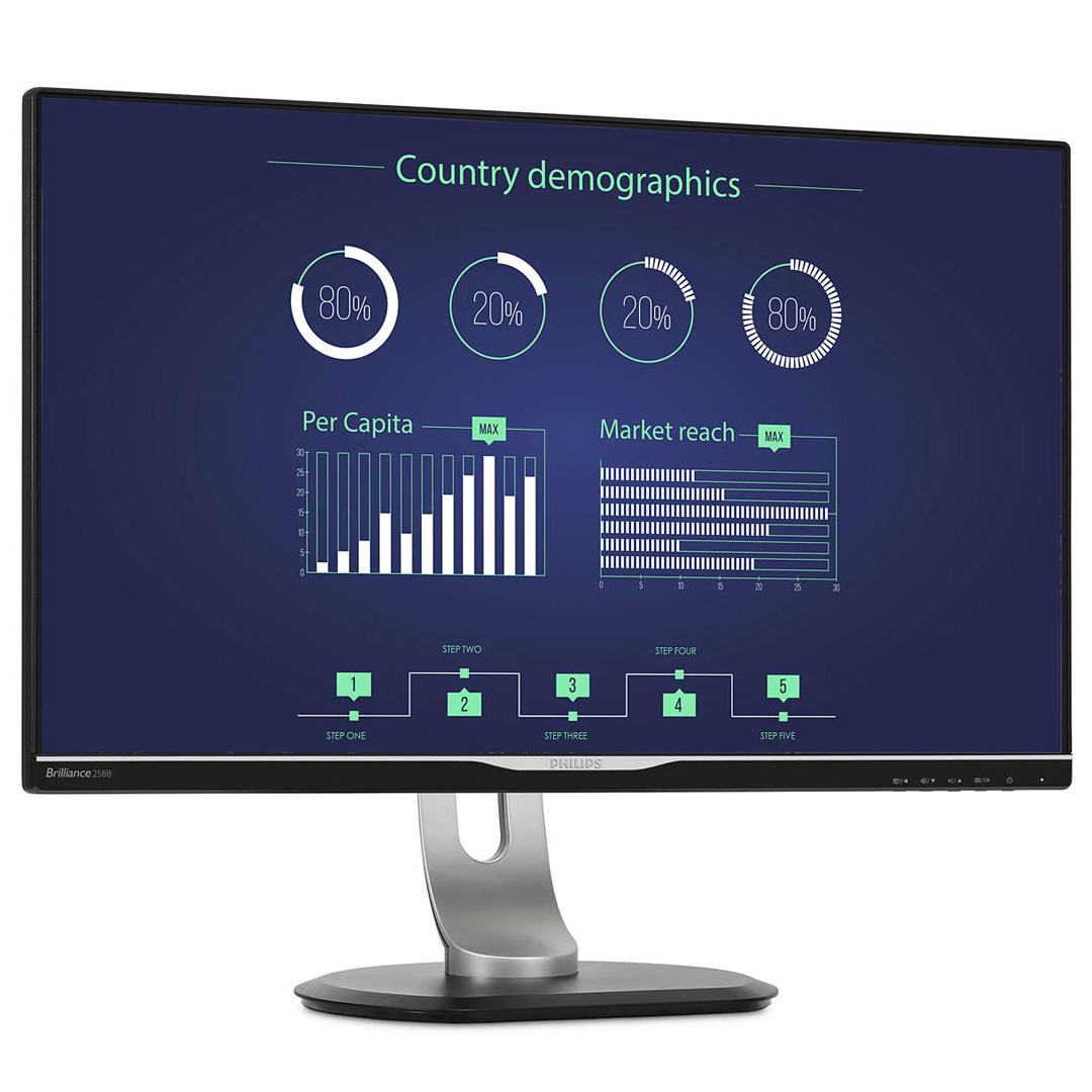 Philips 258B6QUEB QHD IPS 25in Monitor with USB-C