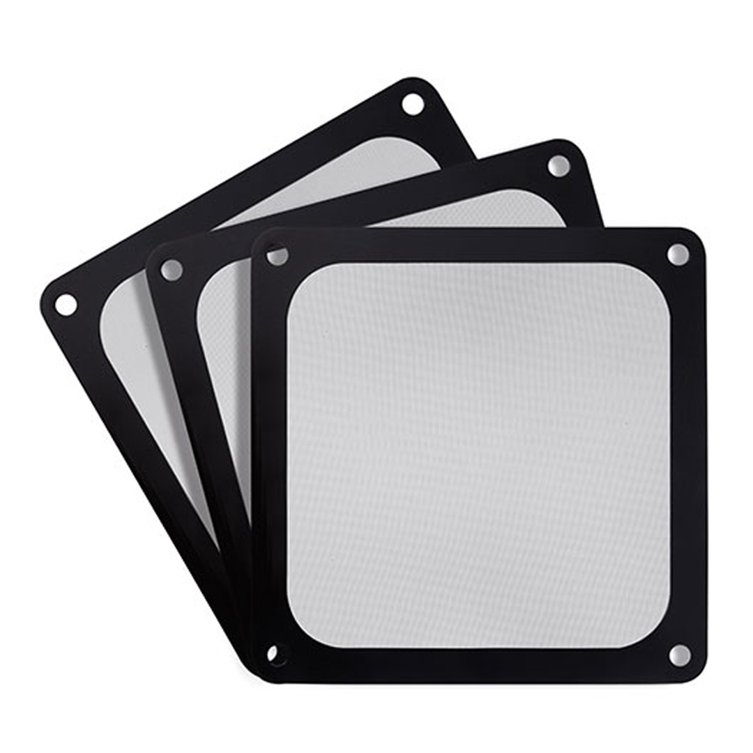Silverstone 120mm Black Ultra Fine Magnetic Fan Filter 3 Pack