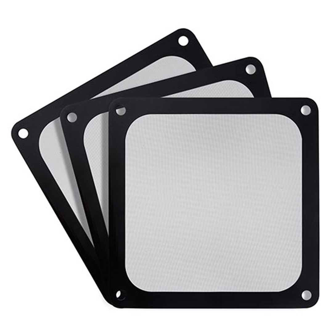 Silverstone 140mm Black Ultra Fine Magnetic Fan Filter 3 Pack