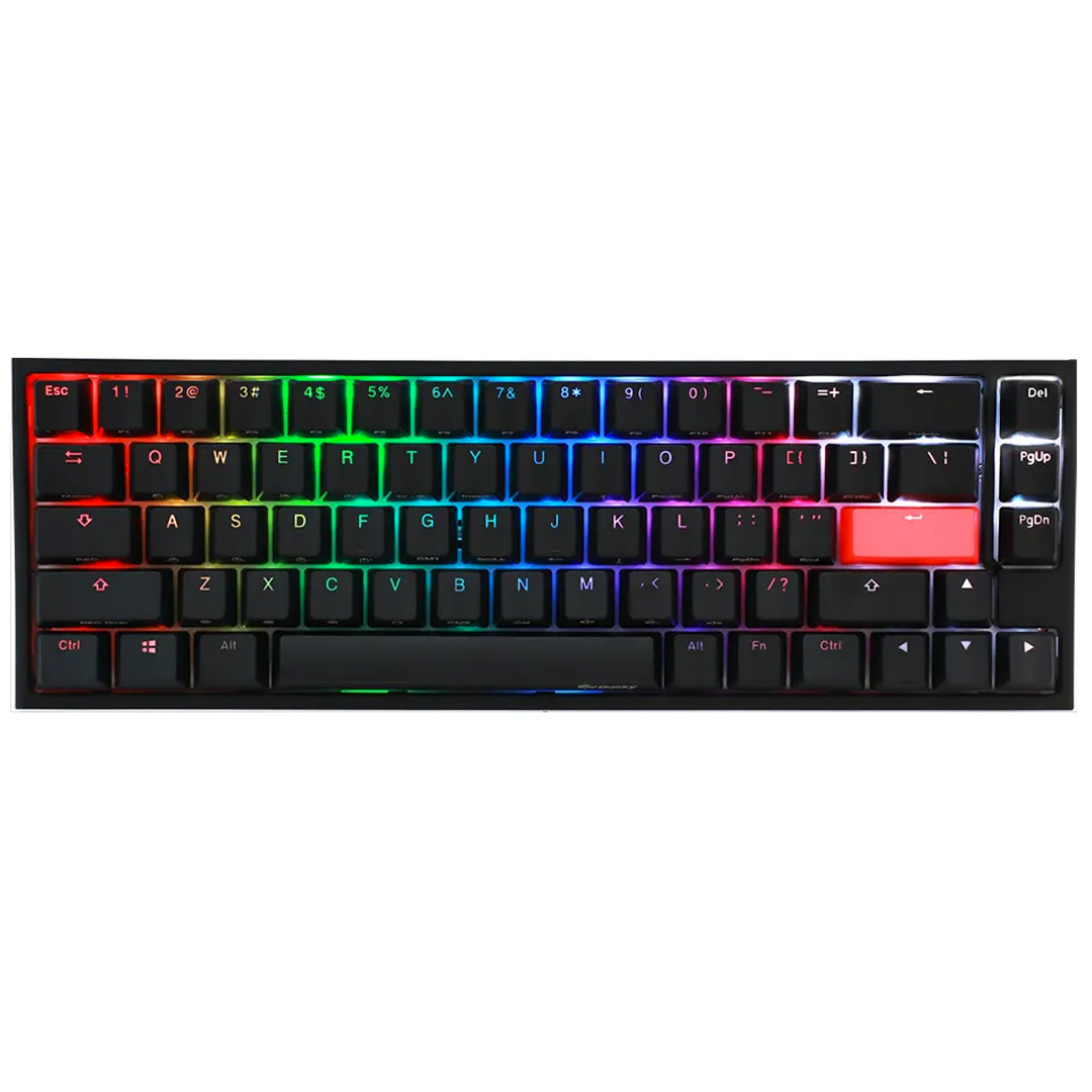 Ducky One 2 SF RGB Mechanical Keyboard Cherry Silent Red