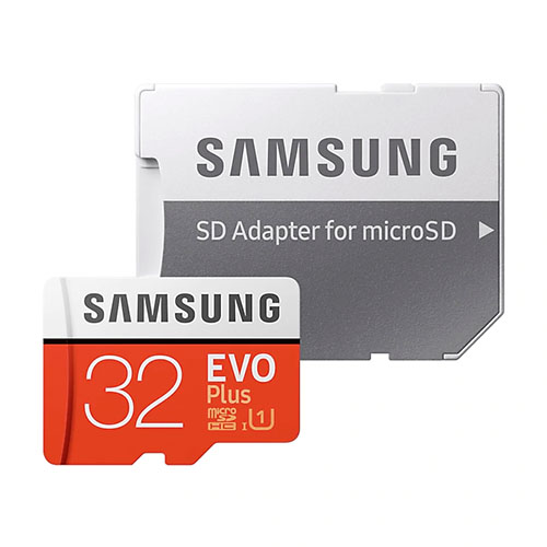 Samsung EVO Plus microSD Card with SD Adapter 32GB