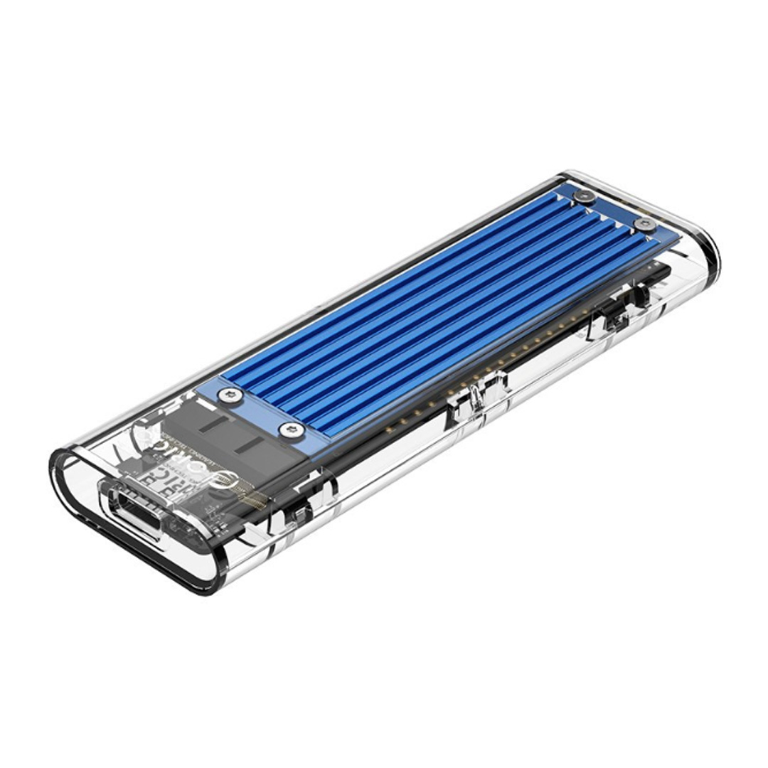 Orico USB 3.1 Type C Gen 2 M.2 Enclosure Transparent Blue