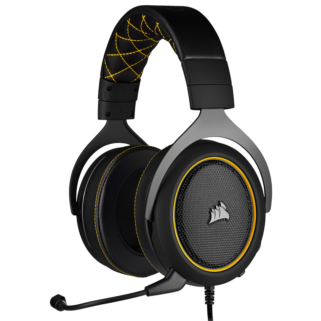 Corsair HS60 PRO Surround Gaming Headset Yellow