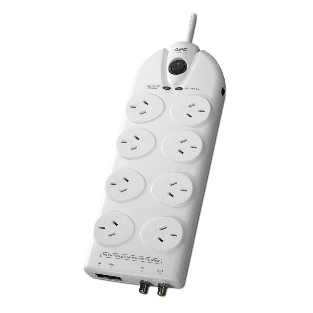APC Essential SurgeArrest 8 Outlet Power Board with Protection
