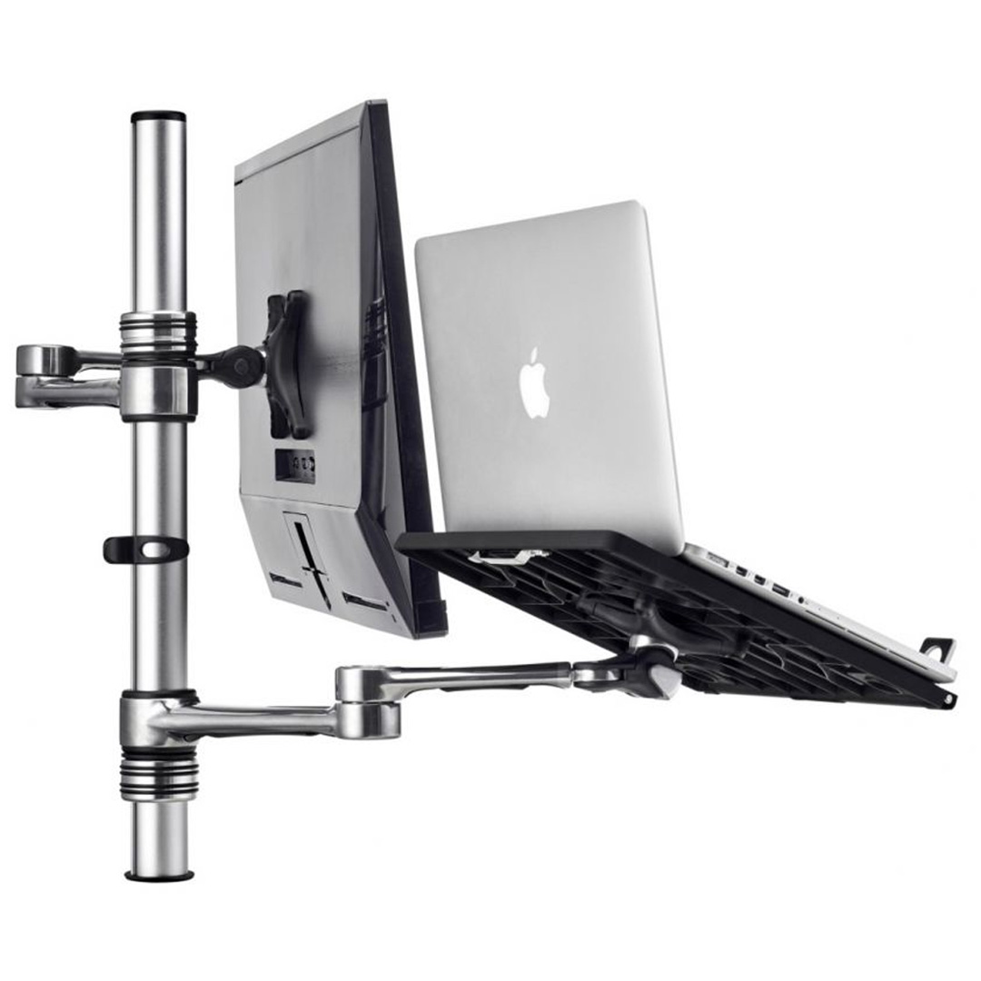 Atdec AF-AT-NBC-PC Articulated Monitor/Laptop Tray Combo Silver