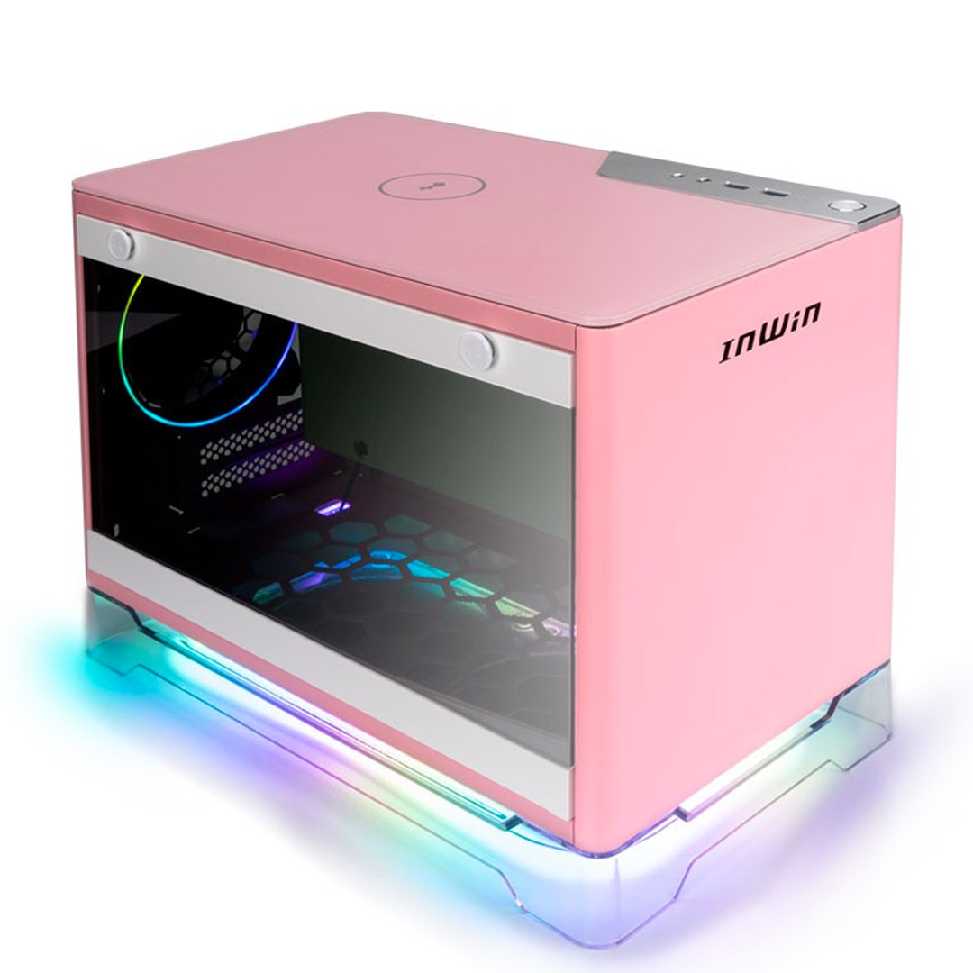 InWin A1 Plus Mini ITX Case with 650W PSU Pink