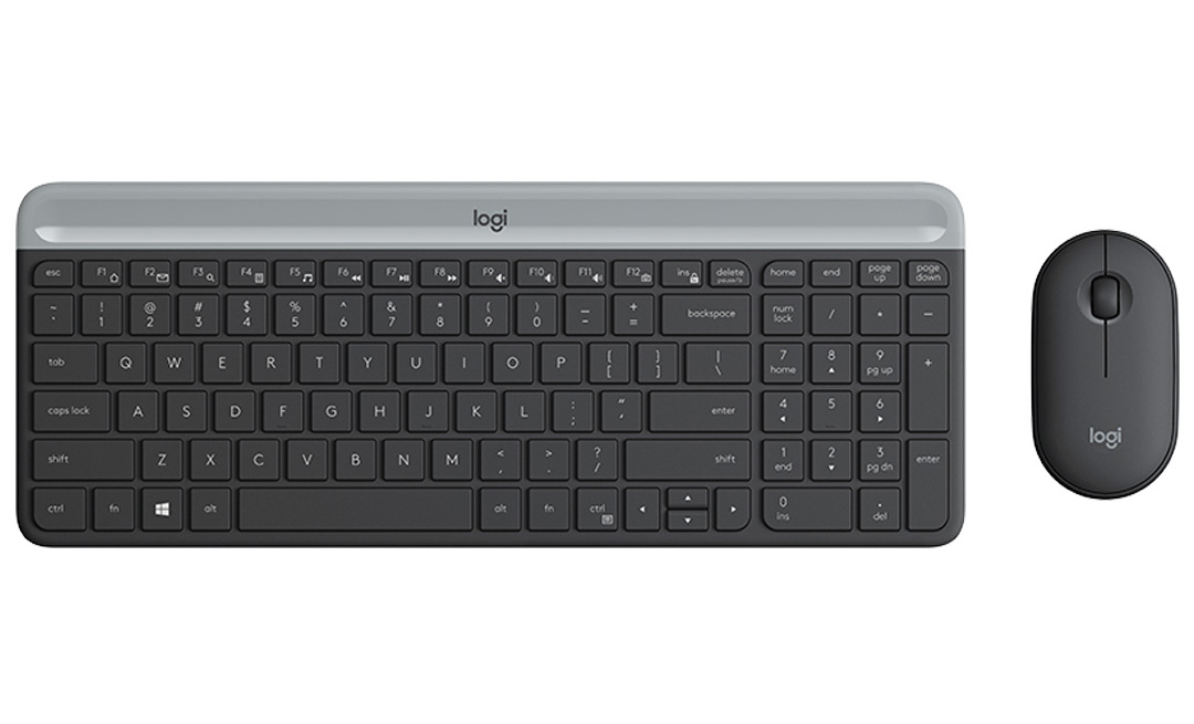 Logitech MK470 Slim Wireless Keyboard and Mouse Combo Graphite