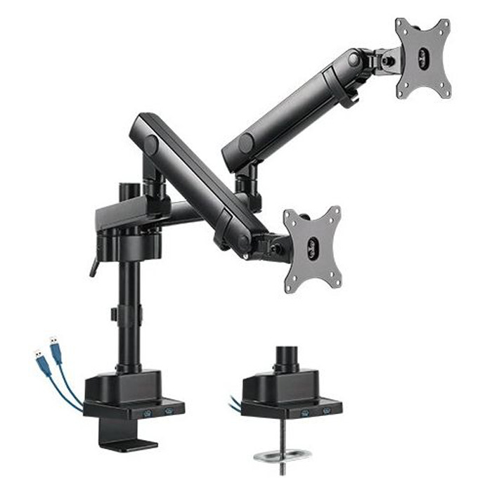 Brateck LDT20-CO24UP Dual Mech Spring Aluminium Monitor Arm