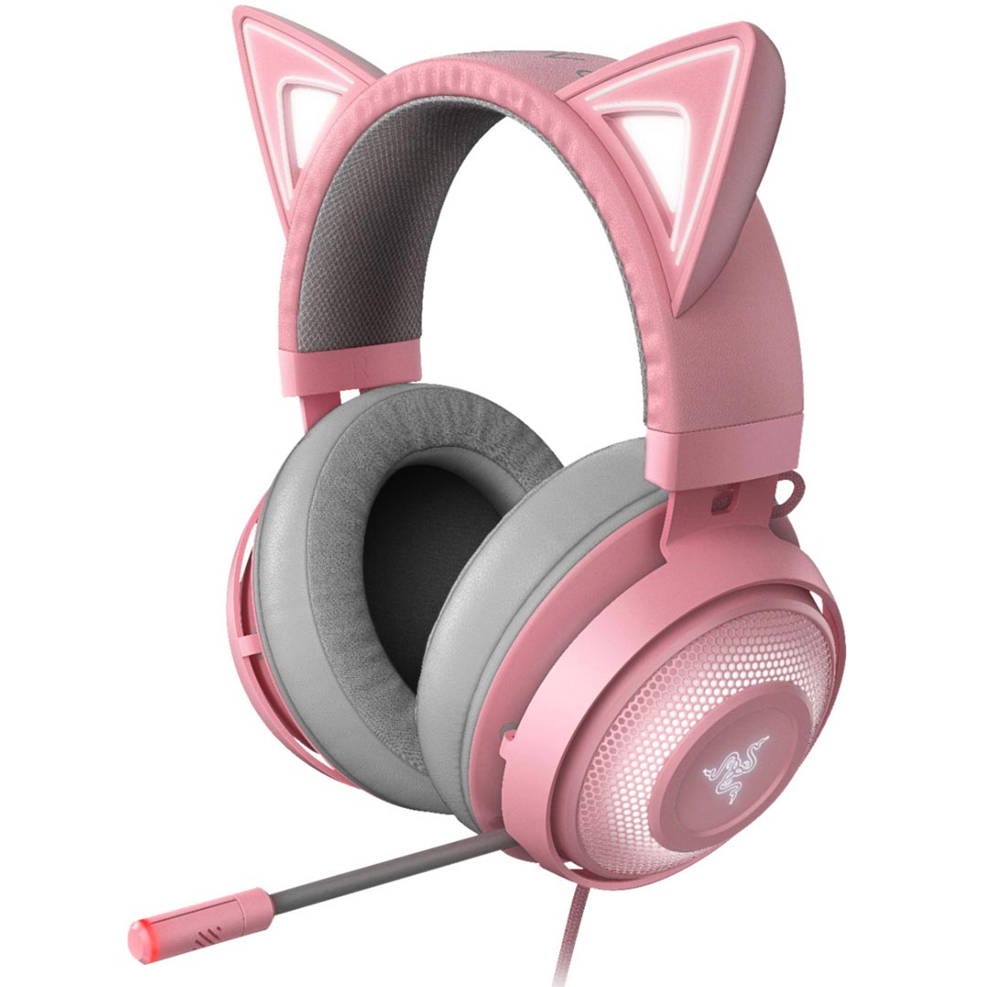 Razer Kraken Kitty RGB Gaming Headset Quartz Pink