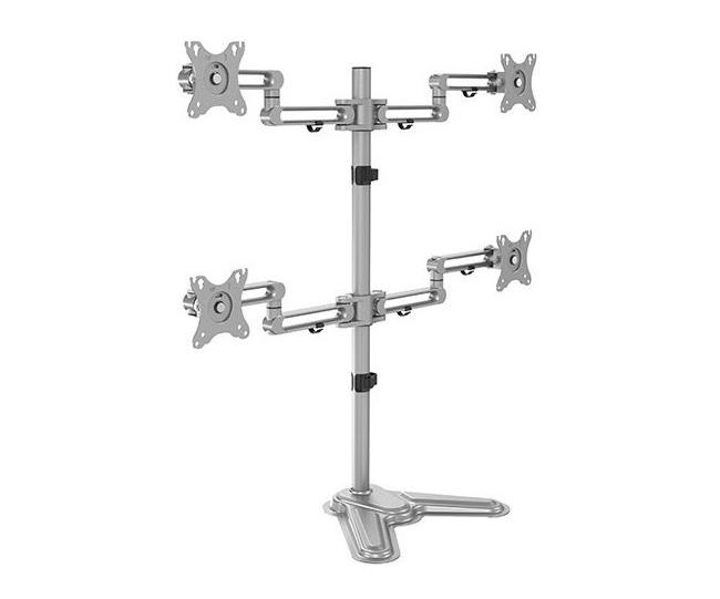 Brateck LDT30-T048 Quad Articulating Aluminum Monitor Arm