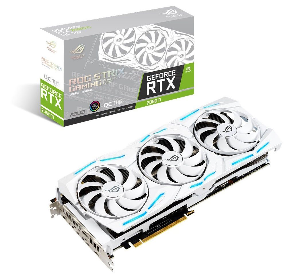 ASUS ROG Strix GeForce RTX 2080 Ti OC 11GB White Edition