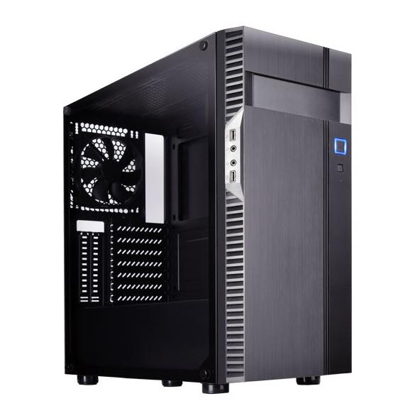 SilverStone Precision PS14 TG mATX Case Black