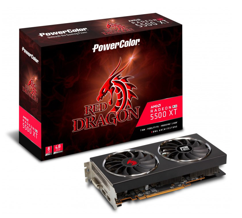PowerColor Radeon RX 5500 XT Red Dragon 8GB