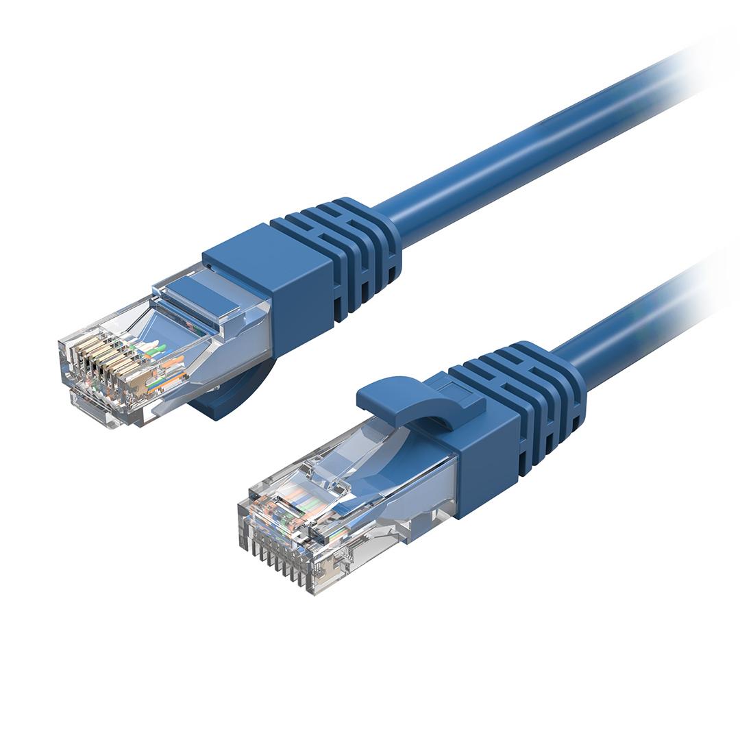 Cruxtec CAT6 Network Cable 0.3m Blue