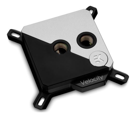 EK Velocity Strike RGB CPU Waterblock Matte Black Silver