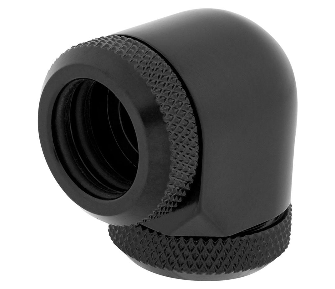 Corsair Hydro X Series XF HL 14mm OD 90 Deg Fittings Black 2 Pk