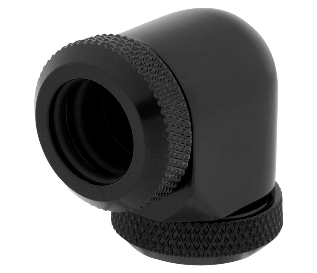 Corsair Hydro X Series XF HL 12mm OD 90 Deg Fittings Black 2 Pk