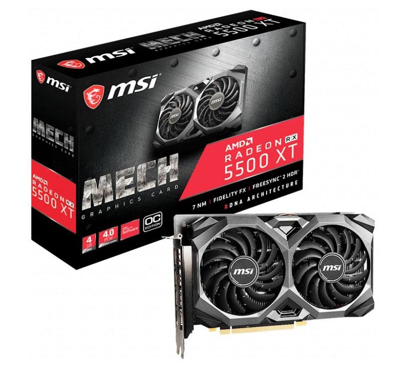 MSI Radeon RX 5500 XT Mech OC 4GB
