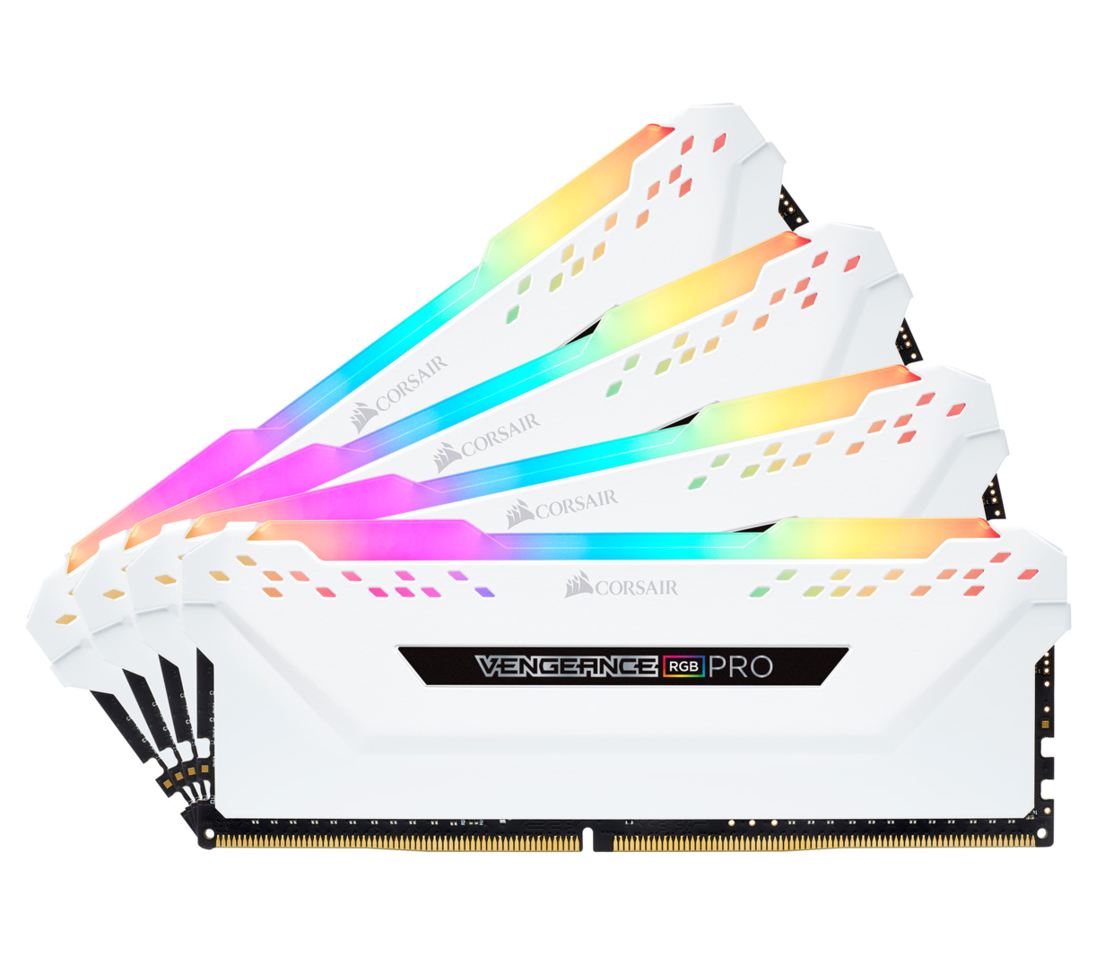 Corsair Vengeance RGB Pro 64GB (4x16GB) 2666MHz CL16 DDR4 White