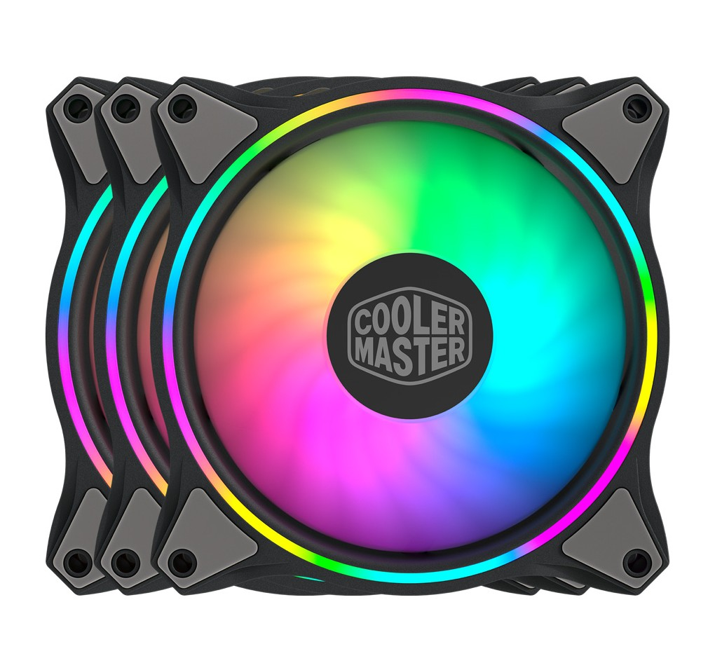 Cooler Master MasterFan MF120 Halo ARGB 120mm 3 Fan Kit