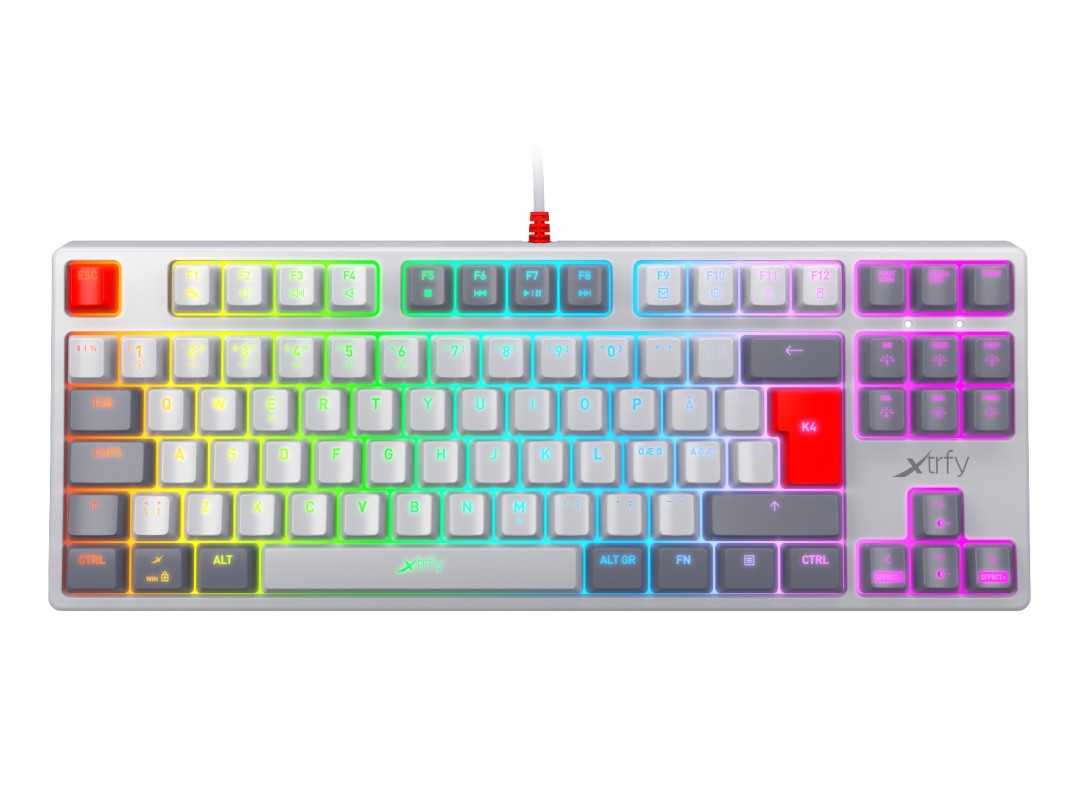 Xtrfy K4 RGB TKL Mechanical Gaming Keyboard Retro