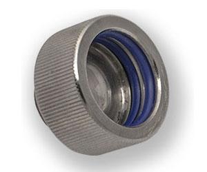 EK HD 12/16mm Hard Tube Fitting Nickel Black