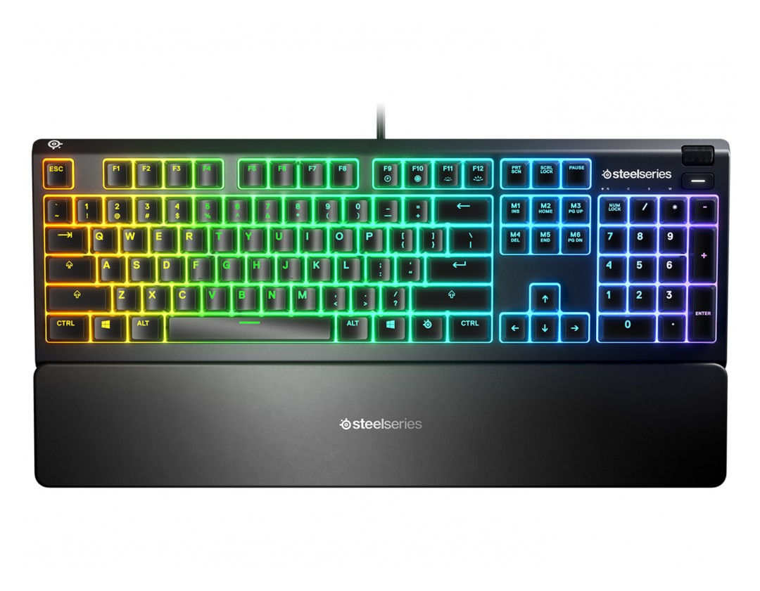 SteelSeries Apex 3 IP32 Water Resistant RGB Gaming Keyboard