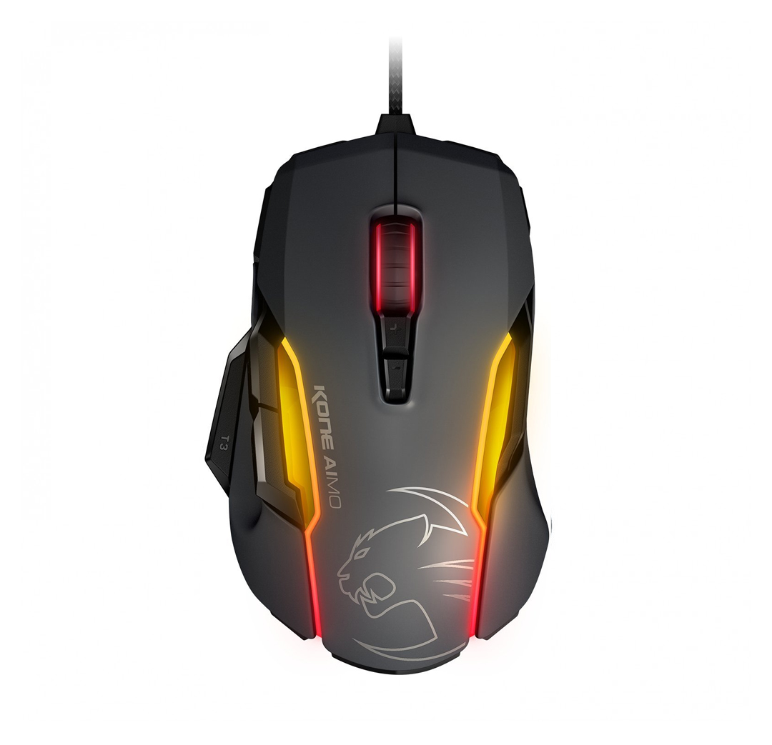Roccat Kone AIMO Owl Eye Optical RGBA Gaming Mouse Grey