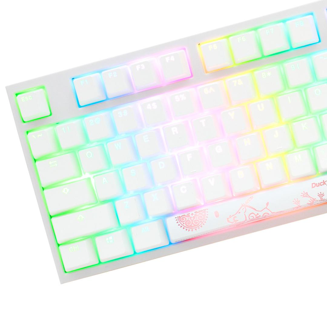 Ducky One 2 RGB White TKL Mechanical Keyboard Cherry Blue