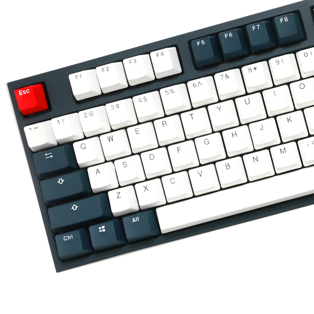 Ducky One 2 Tuxedo TKL Mechanical Keyboard Cherry Silent Red