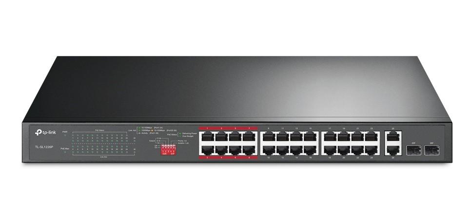 TP-Link TL-SL1226P 24-Port Gigabit Switch with PoE/PoE+