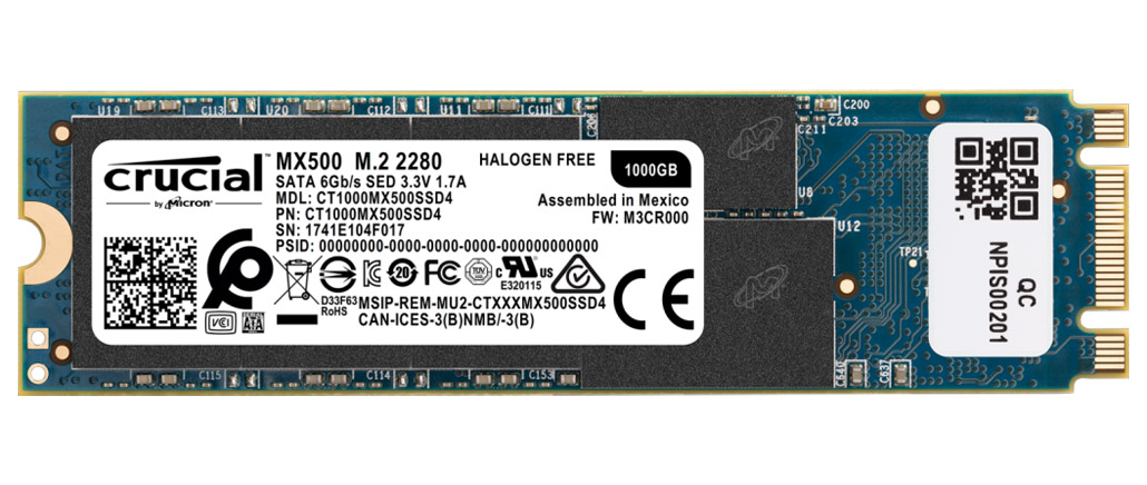 Crucial MX500 M.2 Solid State Drive 1TB