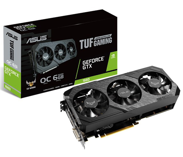 ASUS GeForce GTX 1660 TUF Gaming X3 OC 6GB
