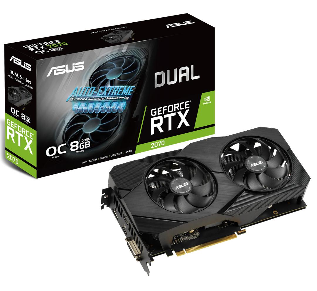 ASUS GeForce RTX 2070 Dual Fan EVO OC 8GB